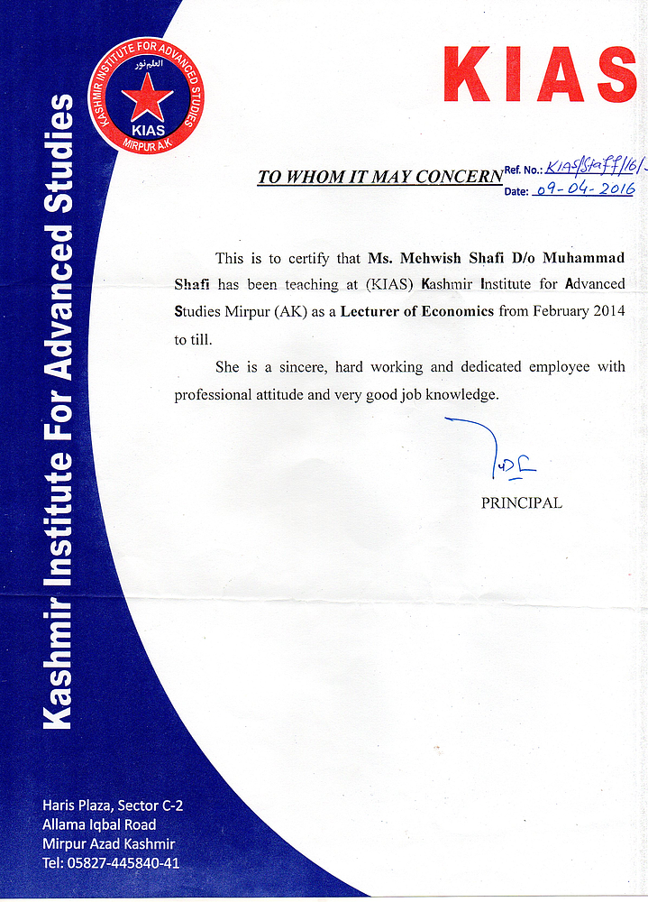 Mehwash Shafi - SSA Cosultant - World Learning - Mirpur (AJK), Pakistan